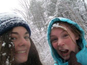 My best friend and I back when we were 16 and snow days meant one thing: Adventure.