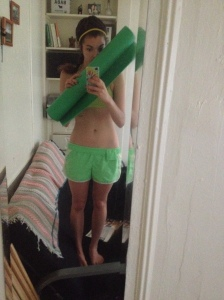 embarrassing how much green I wore to yoga the other day...