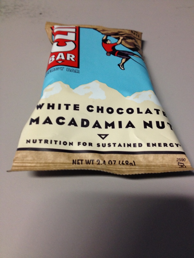 Clif bar before my lunch break 4 mile run